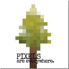 Bahcevski - Pixels - Kendin Tasarla - HDF Magnet 8x8cm