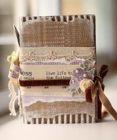 Cardboard Book | Sharon Ngoo Think I would bind it differently but love the look of the cardboard and earthy materials. Nice!
