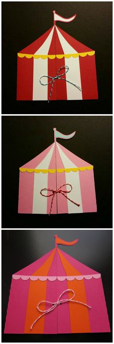 Circus Tent Invitation by SassyPapier on Etsy