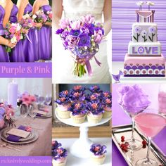 Purple and Pink... This would work for a spring bridal shower