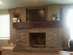 The Ewell Corner: Fireplace renovation: building around a lava rock fireplace!
