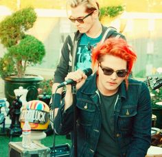 Gerard and Mikey (the are brothers, please don't be like everyone else and make it look like something its not)