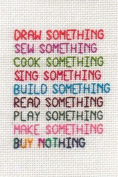 buy nothing by Viv J M, via Flickr: