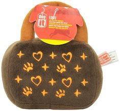 Dogit Luvz Dog Toys, Brown Bag w/Hearts -- Additional details at the pin image, click it  : Dog Toys