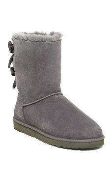 7fa0db1e719 UGG - Bailey Bow Corduroy Genuine Shearling Fur Boot Bearpaw Boots