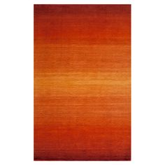 Hand-tufted wool rug with ombre design.  Product: RugConstruction Material: 100% WoolColor: Paprika