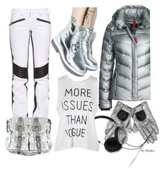 A fashion look from January 2016 featuring white tank top, Bogner Fire + Ice and Lugz. Fashion Women, Women's Fashion, Fashion Trends, Christian Lacroix, Polyvore Fashion, Prada, Women's Clothing, Metallic