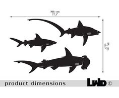 Sharks wall Decal wall decals vinyl sticker by LargeWallDecals