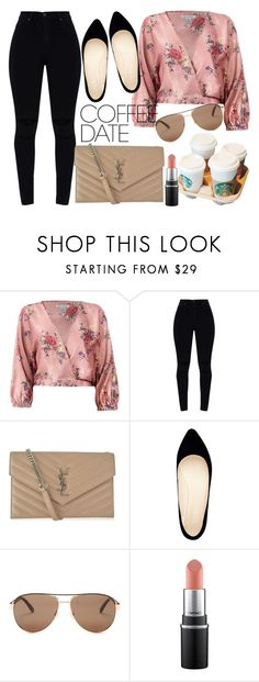 """Coffee Date 2"" by aconrad36 ❤ liked on Polyvore featuring Sans Souci, Yves Saint Laurent, Nine West, Gucci and CoffeeDate"