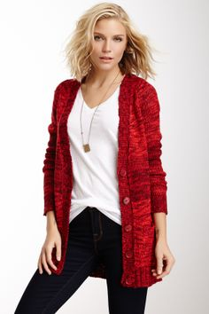 Melange Knit Cardigan - Love this!!
