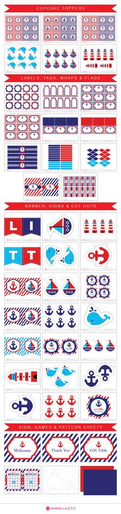 Nautical Birthday invitation Nautical invitation by GardellaGlobal