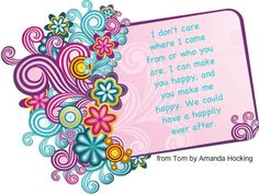 Torn by Amanda Hocking quote Amanda Hocking, Funny Rabbit, Sewing Blogs, Book Fandoms, Happily Ever After, Book Lovers, Are You Happy, Arts And Crafts, Reading