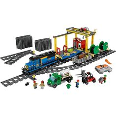 Cultivate critical thinking skills and creativity with the LEGO City Cargo Train set! Your child can enjoy moving goods around their city with this motorized train. Lego City Toys, Lego City Cargo Train, Lego Construction, All Lego, Model Train Layouts, Train Set, Train Tracks, Models, Building Toys