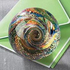 Paperweights, Dichroic Glass Art, Glass Paperweight, Unique Gifts