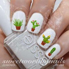 Cactus Nail Art Nail Water Decals Slides