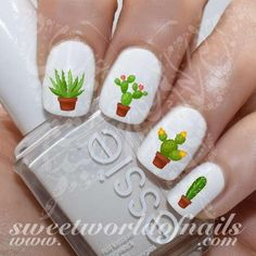 Cactus Nail Art Nail Water Decals Slides