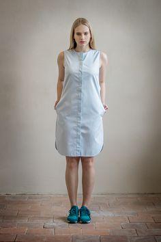 de71fc43cb85 Mentolové košilové šaty   Zboží prodejce Daya