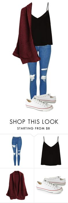 """Untitled #447"" by cuteskyiscute on Polyvore featuring Topshop, Raey and Converse"