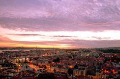 Lisbon dusk by Bruno Veiga on 500px