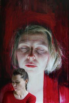 'Dreams of Maria' 150x100cm, oil on canvas. #artexhibition #contemporaryart #figurative #realism #exploreart #buyart #art_collectors #artforsale #contemporaryrealism #womanart #oilpainting