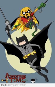 [ Adventure Time + Batman & Robin ] = MAGICAL AWESOMENESS!!  <3 my 2 Heroes morphed as 1