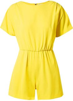 20a234884f1 Alice + Olivia Alice Olivia - Ashlea Crepe Playsuit - Yellow