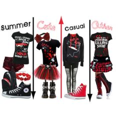 Scene/emo outfits