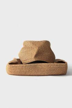 Boxed Hat 11cm Brim w Grosgrain Ribbon - Mix Brown x Black