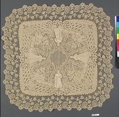 The Metropolitan Museum of Art - Handkerchief Date: 1873 Culture: Belgian Medium: Cotton on linen, bobbin lace