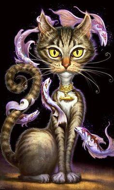"""""""Feline Fantasy"""" - Jeff Haynie interview - Part 2 - John Pototschnik Fine Art www.pototschnik.com549 × 700Search by image"""