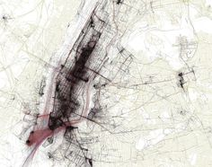 Photographer Eric Fischer uses Flickr's geotags to create city maps that show the places of intense human interest.
