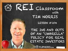 """In the classroom today, Tim Norris explains how having an """"umbrella"""" policy doesn't give you any additions areas of coverage, but instead a higher level of coverage for areas that are already covered."""