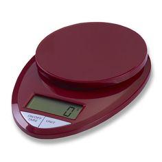 EatSmart Precision Pro in Digital Kitchen Scale in Red ESKS 08