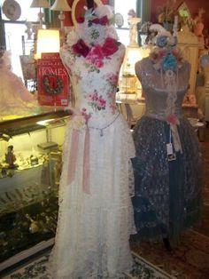 Shabby Roses Dress Form