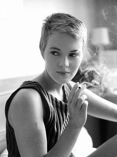 """Jean Seberg during the filming of """"Breathless."""" 1959"""