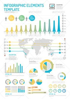Infographic Elements Design Template Vector - Infographics