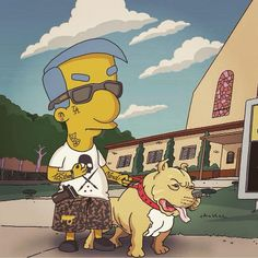 Bart simpson hypebeasted supreme bape yeezyboost hypebeast the simpson en 2019 pinterest - Bart et milhouse ...