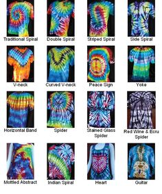 Tie Dye Folding Patterns Example - Bing images