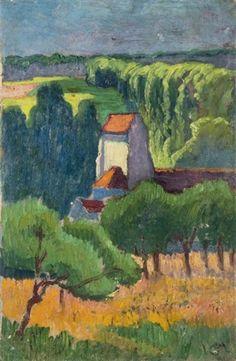 Léglise de Gouvernes Seine et Marne by LéoGausson Post Impressionism, Impressionist, Leo, Original Artwork, Watercolor, Prints, Bristol, Image, Trust