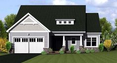 Ranch Elevation of Plan 54055