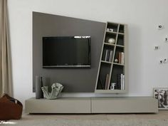 TV on the wall behind