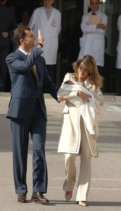 A Royal Success: Queen Letizia of Spain's Style - Princess Letizia with baby Princess Leonor