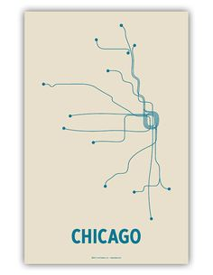 Chicago Lineposter by Lineposters