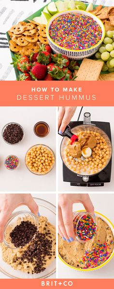 Make this delicious Dessert Hummus for your next summer party.