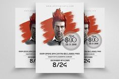 Electro Party Flyer Template by Business Flyers on @creativemarket