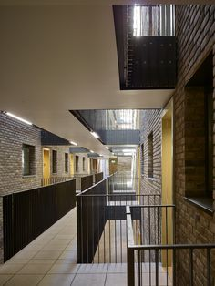 Allford Hall Monaghan Morris, Grand Union - TIMOTHY SOAR Hotel Corridor, Corridor Ideas, Big Sheds, Small Tiles, Student House, Social Housing, Small Buildings, Concept Architecture, Apartment Design