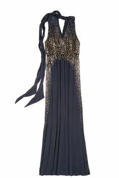 Divya Sequin Embellished Halter Dress by Calypso