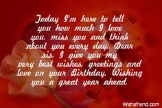 birthday wishes for a sister - Google Search