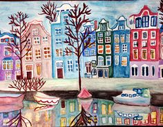 """Check out new work on my @Behance portfolio: """"Amsterdam Canals Houses"""" http://be.net/gallery/32856583/Amsterdam-Canals-Houses"""