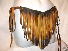 Authentic Fringed Leather Loincloth Swimsuit Custom by dleather, $129.95